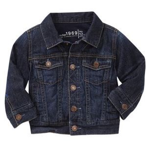 Gap baby 1969 dark denim jacket like new